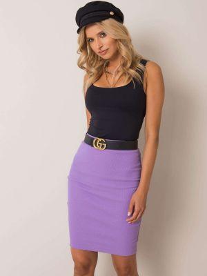 Fioletowa spódnica ołówkowa bawełniana Fashionhunters