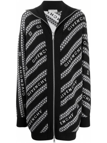 Klasyczny czarny kardigan wełniany Givenchy