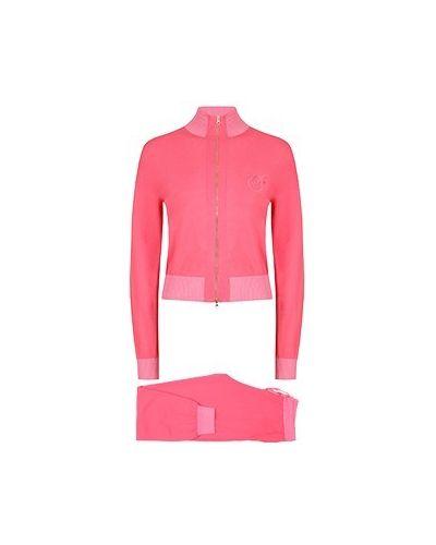 Костюмный хлопковый розовый спортивный костюм Pinko