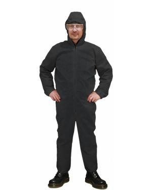 С рукавами черный комбинезон с капюшоном Lacywear
