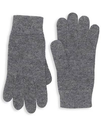 Ażurowe czarne rękawiczki wełniane Portolano