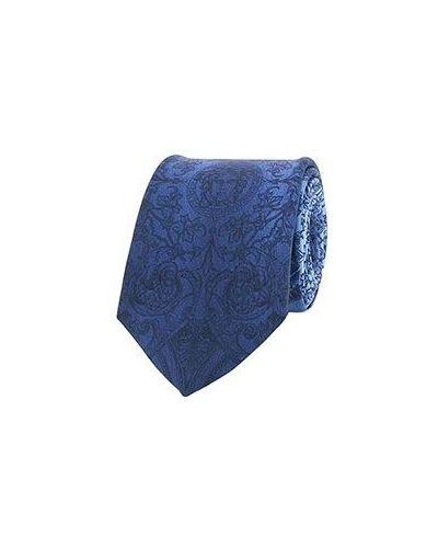 Голубой галстук Versace