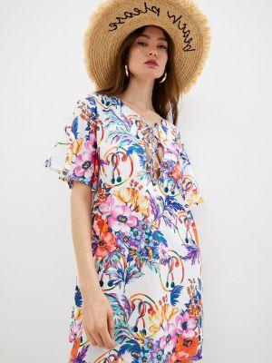 Пляжное белое купальное платье Moschino Swim