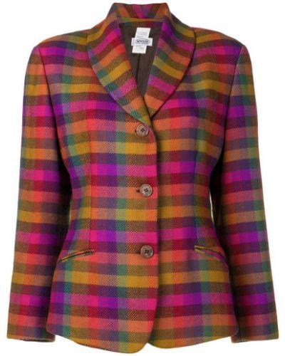 Фиолетовый однобортный удлиненный пиджак на пуговицах Missoni Pre-owned