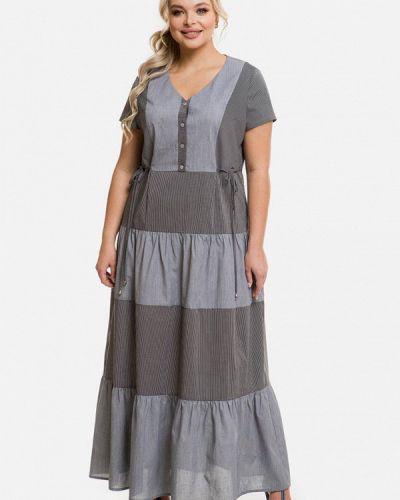 Повседневное серое платье Venusita