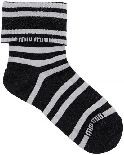 Носки с люрексом - черные Miu Miu