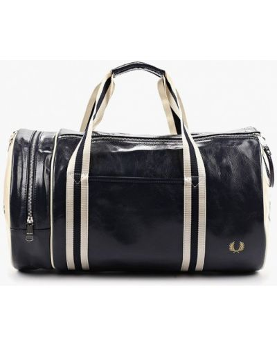 Спортивная сумка кожаная синий Fred Perry