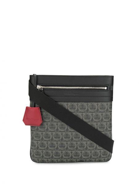 Кожаная сумка через плечо - черная Salvatore Ferragamo