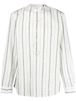 Biała koszula bawełniana z długimi rękawami Lardini