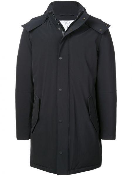 С рукавами черное длинное пальто с капюшоном Aztech Mountain