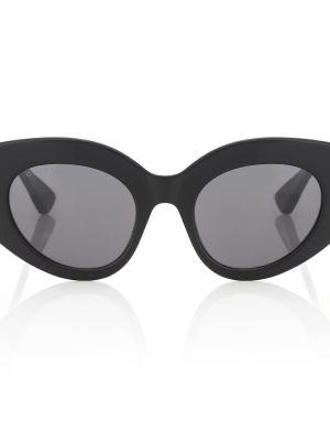 Муслиновые черные классические солнцезащитные очки Gucci