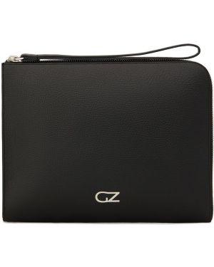 Skórzana torba czarny Giuseppe Zanotti