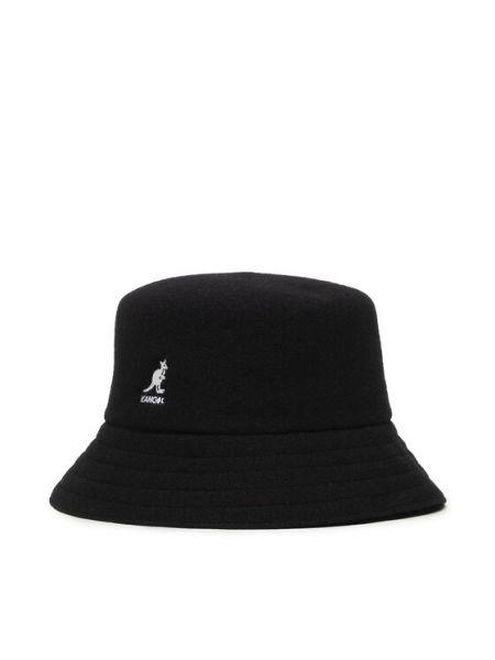 Czarny kapelusz wełniany Kangol