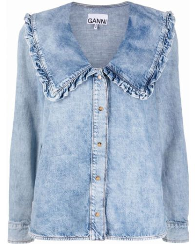 Koszula jeansowa - niebieska Ganni