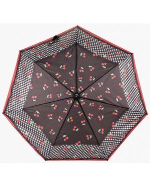 Складной зонт - черный Fabretti