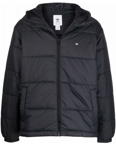 Черная куртка с заплатками Adidas
