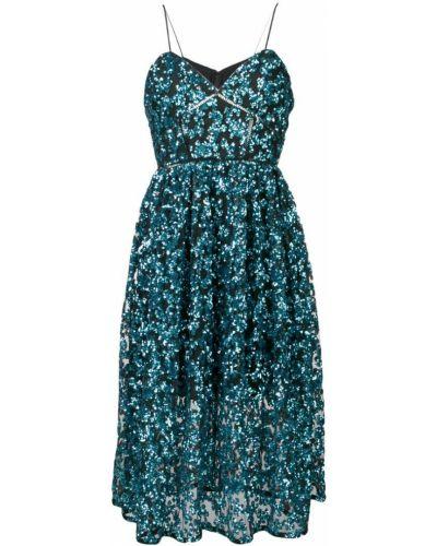 Платье с открытой спиной с пайетками Self-portrait