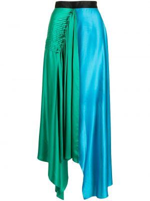Niebieska spódnica asymetryczna Roksanda