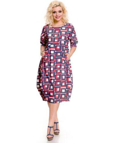 Платье миди джинсовое в стиле бохо Novita