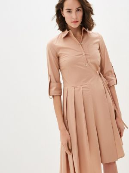 Платье платье-рубашка бежевое Beatrice.b
