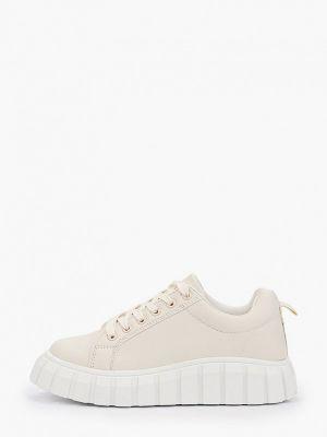 Бежевые зимние низкие кеды Sweet Shoes