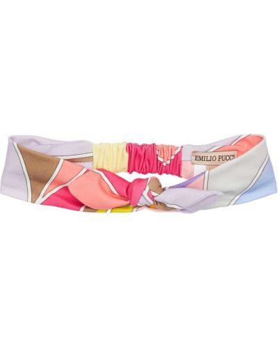 Bawełna bawełna opaska na głowę na gumce Emilio Pucci