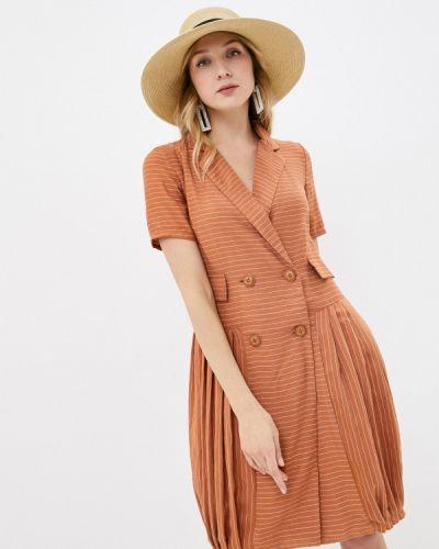 Платье - коричневое мадам т