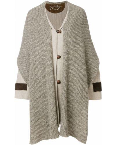 Шерстяное длинное пальто с капюшоном на пуговицах Jc De Castelbajac Pre-owned