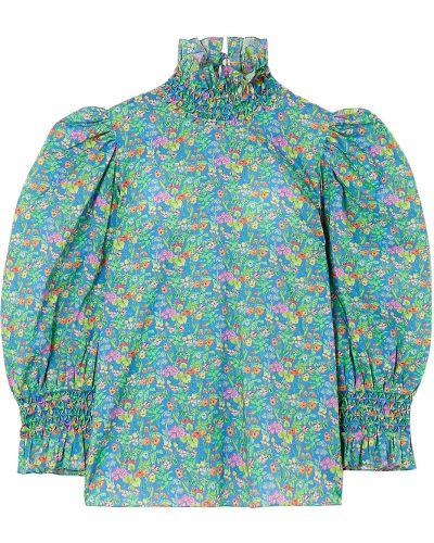 Ватная хлопковая синяя блузка Horror Vacui