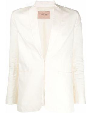 Длинная куртка с карманами льняная Twin-set