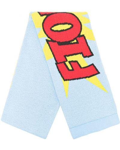 Хлопковый шарф - синий Fiorucci