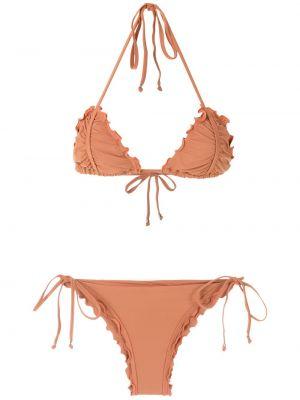 Оранжевые тонкие бикини на бретелях Amir Slama