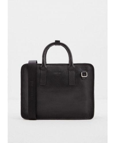 Черная кожаная сумка Cerruti 1881