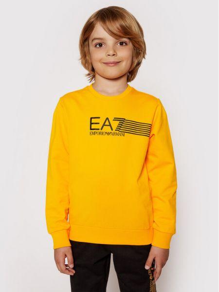 Bluza - pomarańczowa Ea7 Emporio Armani