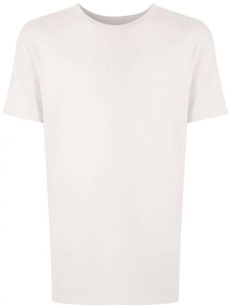 Прямая хлопковая футболка в рубчик с круглым вырезом Osklen