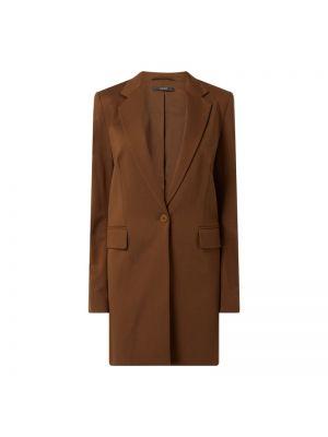 Brązowy płaszcz z wiskozy zapinane na guziki Esprit Collection