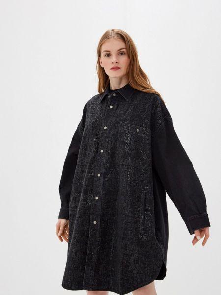 Джинсовое платье черное весеннее Diesel