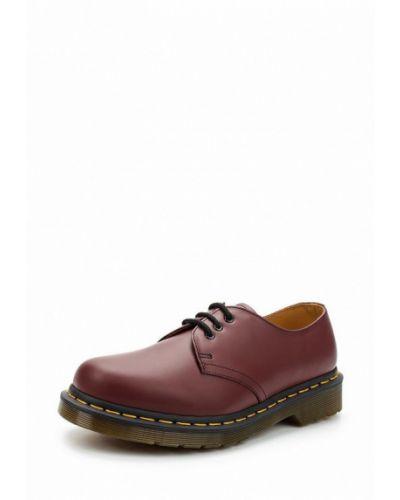 Кожаные ботинки бордовый красный Dr Martens