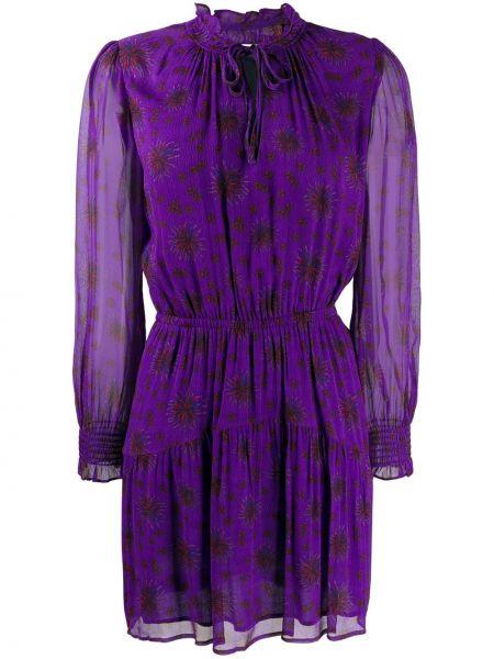 Платье с поясом фиолетовый длинное Ba&sh
