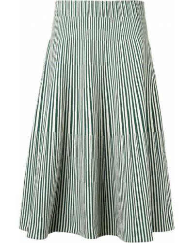 Zielona spódnica w paski z wiskozy Cedric Charlier