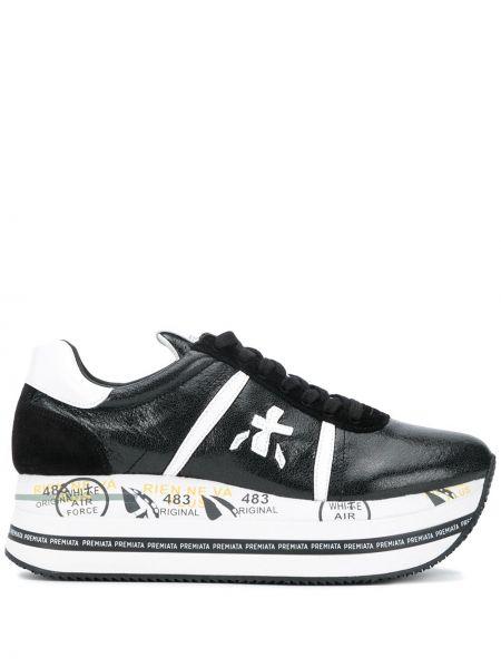 Кожаные кроссовки - черные Premiata