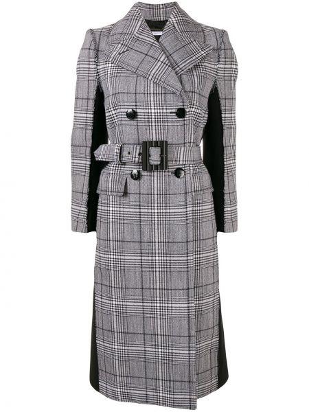 Серое шерстяное пальто классическое с капюшоном Givenchy