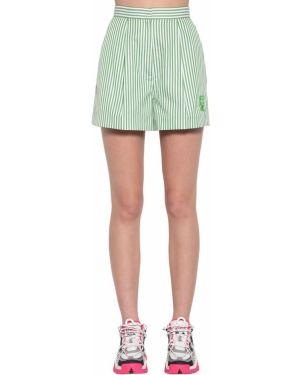 Шорты с карманами - зеленые Kenzo