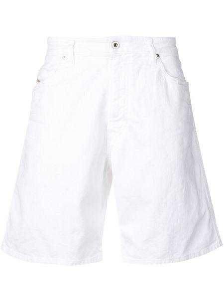 Джинсовые шорты с карманами белые Diesel