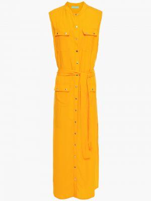 Пляжное платье макси с поясом из вискозы Melissa Odabash
