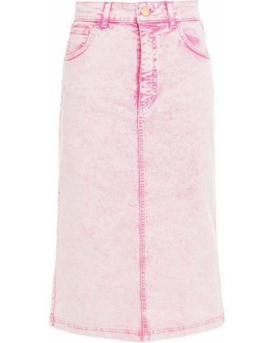 Хлопковая синяя юбка миди с поясом Vivetta