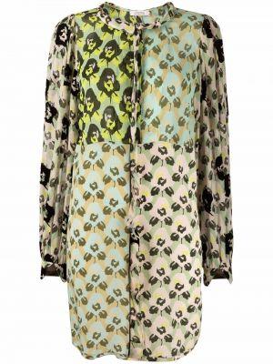Зеленое платье мини с вырезом Dorothee Schumacher