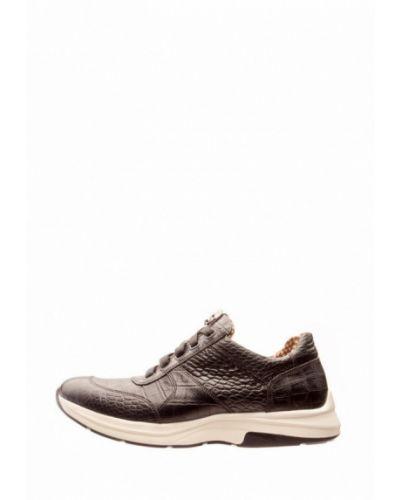 Кожаные кроссовки - коричневые Cliford