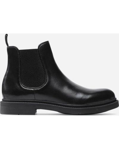 Ботинки челси на каблуке - черные Gino Rossi