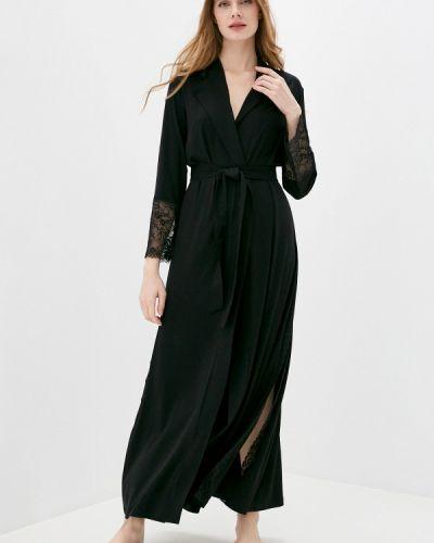 Черный домашний халат Petit Pas